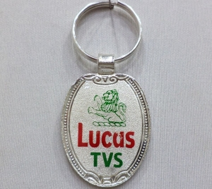 Logo Metal Colored Keychain 3