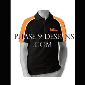 Customized Collar Tshirt (Black- Design-7)