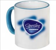 Customised Mug- Colored Rim Handle Mug (Light Blue)