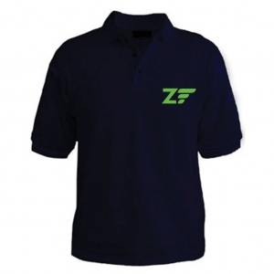 Customized Collar Tshirt (Navy Blue)