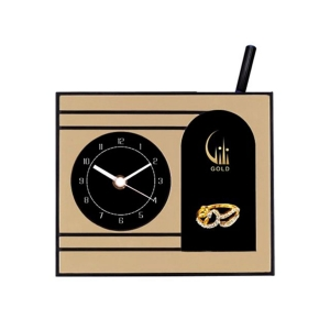 Customized Pen Holder With Clock- NB91139