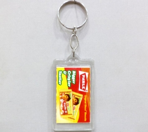 Logo Clear Plastic Keychain- 16