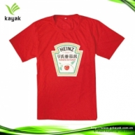 Customized T Shirt With Rubber Printing (Red)