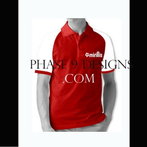 Customized Collar Tshirt (Red- Design-18)