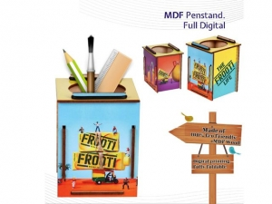 Customized Wood Digital Printed Pen Holder- NB907