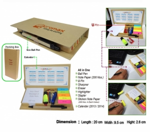 Customised Eco Note Pad with Stationery Kit