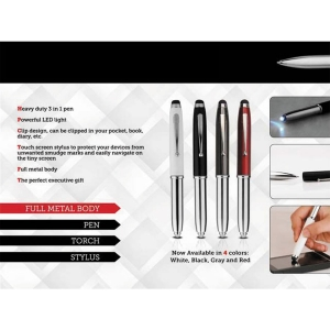 Customized Full Metal Pen with Stylus & Torch (NB916629)