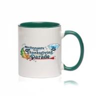Customized Mug -Color Inside & Handle Color Mug (Green)