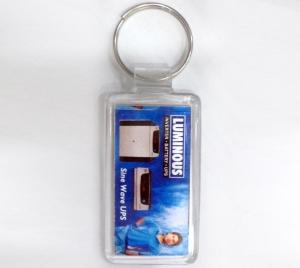 Logo Clear Plastic Keychain- 8