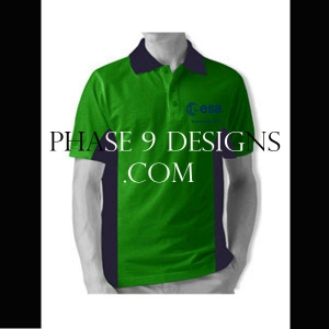 Customized Collar Tshirt (Green- Design-14)