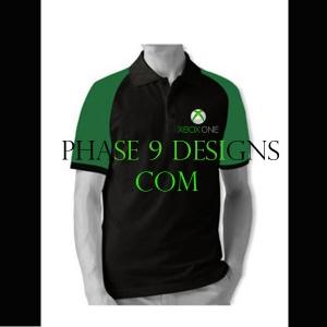 Customized Collar Tshirt (Black- Design-21)