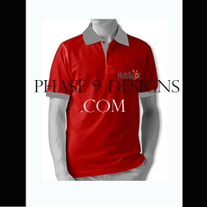 Customized Collar Tshirt (Red- Design-7)