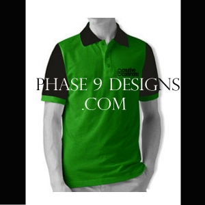 Customized Collar Tshirt (Green- Design-3)