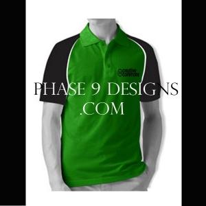 Customized Collar Tshirt (Green- Design-6)