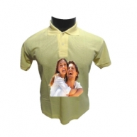 Customized Multicolor Polo Tshirt (Lemon Yellow)