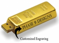 Gold Bar Customized Pendrive
