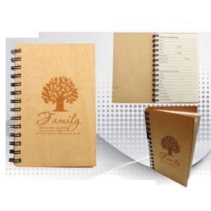 Customized Wooden Diary- Family Theme