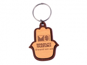 Customized Wooden Keychain- 911