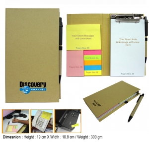 Customised Eco Memo Pad with Pen -91062