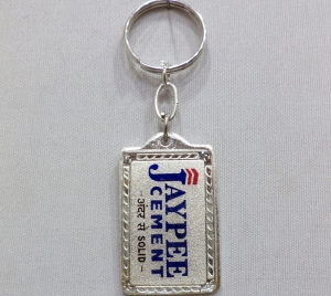 Logo Metal Colored Keychain 1