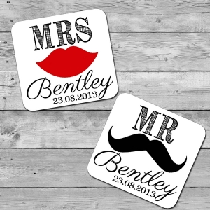 Customised Mr.& Mrs Coaster
