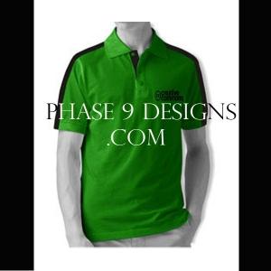 Customized Collar Tshirt (Green- Design-4)