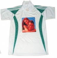 Sub Collared Photo Tshirt (White-Green)