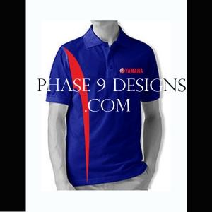 Customized Collar Tshirt (R.Blue- Design-2)