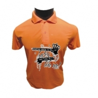 Customized Multicolor Polo Tshirt (Orange)