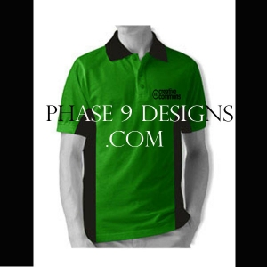 Customized Collar Tshirt (Green- Design-5)