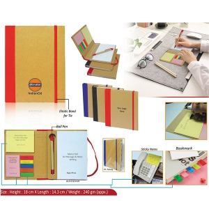 Customized Eco Notepad With Sticky Notes- 98079