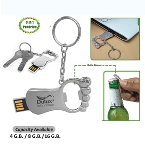 Foot Shaped Opener Pendrive
