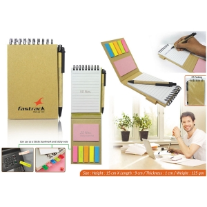 Customized Eco Notepad With Sticky Notes- 98109
