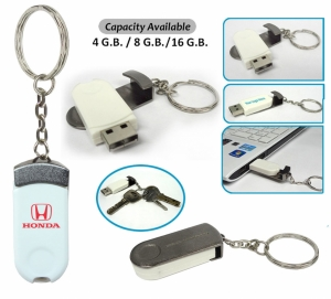 Swivel Pendrive with Keychain