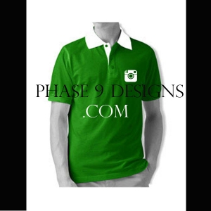 Customized Collar Tshirt (Green- Design-8)