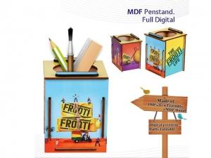 Customized Wood Digital Printed Pen Holder- NB907