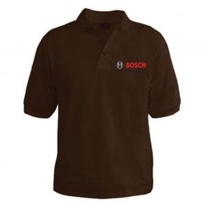 Customized Collar Tshirt (Brown)