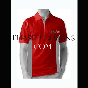 Customized Collar Tshirt (Red- Design-10)