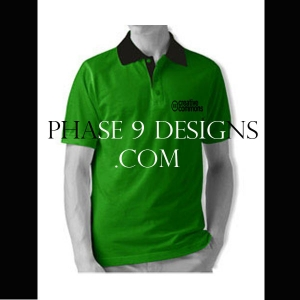 Customized Collar Tshirt (Green- Design-2)