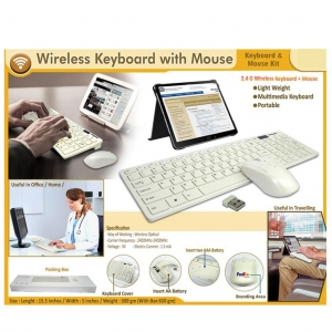 Wireless Keyboard with Customised Mouse