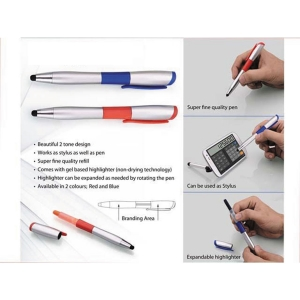 Customized Stylus Pen With Highlighter (NB918029)