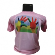 Customized Multicolor Printed Tshirt (Pink)