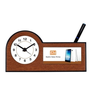 Customized Pen Holder With Clock- NB91129