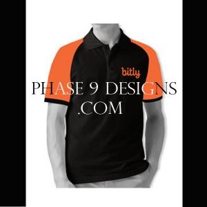 Customized Collar Tshirt (Black- Design-6)