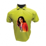 Customized Multicolor Polo Tshirt (Green)