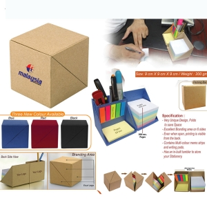 Customized Eco Friendly Cube Memo Pad & Stationery Holder