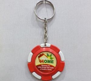 Logo Printed Plastic Case Keychain- 12