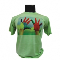 Customized Multicolor Printed Tshirt (Green)