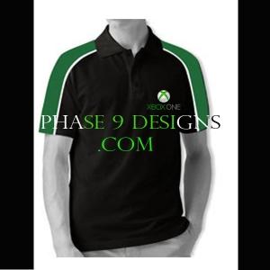 Customized Collar Tshirt (Black- Design-22)