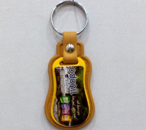 Logo Printed Plastic Case Keychain- 15